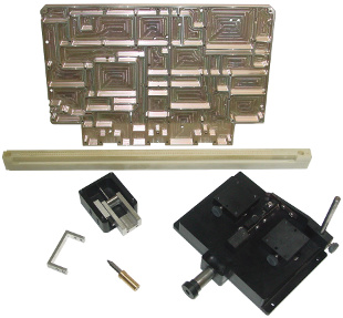 Examples of parts machined by Rematek machining division for functional test solutions. The materials used include aluminum, steel, brass and glass epoxy laminate.